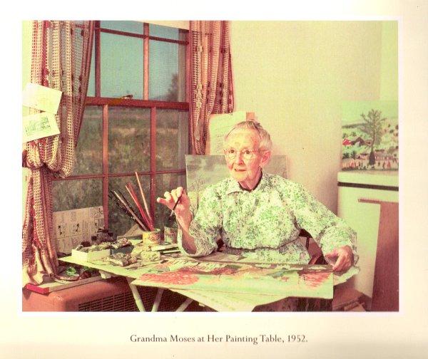 grandma moses postcard